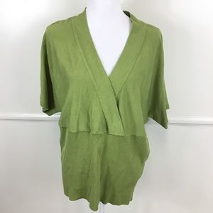 Lane Bryant Green Pullover Sweater Plus 22/24
